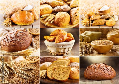 In de dag Bakkerij various fresh bread