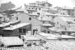 Mora de Rubielos village in snow, Teruel, Aragon, Spain