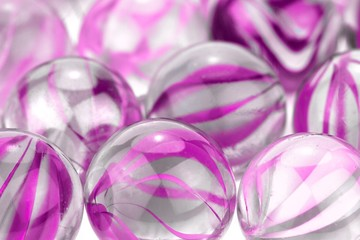 Glass marbles, macro image