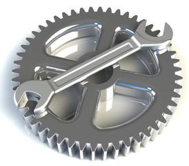 Schraubenschlüssel Zahnrad Werkstatt