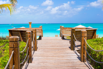 Beautiful tropical landscape on Providenciales Island in the