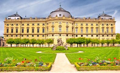 Barocke Würzburger Residenz mit Hofgarten