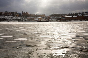 Icy Harbor in front of Gamla Stam