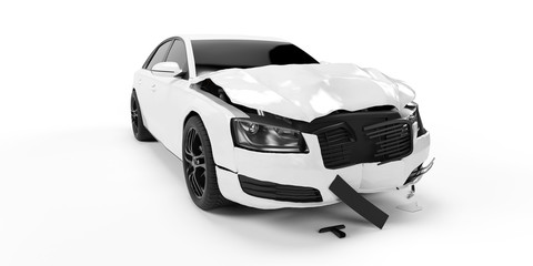 3d rendered illustration of a crash car