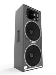 3d rendered illustration of a speaker