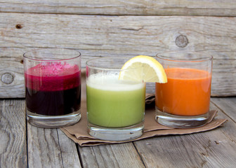Fresh  juices - red beet, cabbage and carrot
