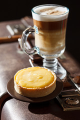 lemon tart with coffee