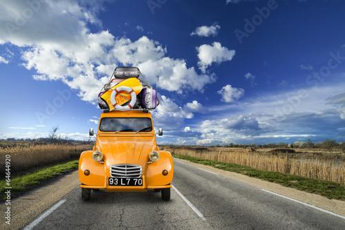 Poster Partir en Vacances, Sur la Route