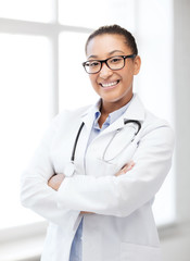african female doctor in hospital