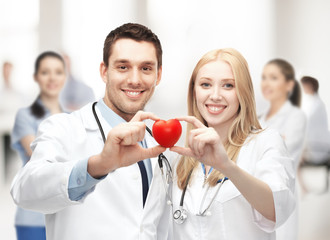 cardiologists with heart