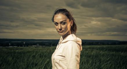 sportive brunet portrait