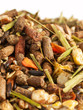 sportive  muesli background with black oats. for horse.macro