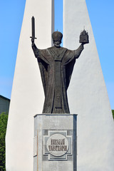 Monument to St Nicholas The Wonderworker. Kaliningrad, Russia