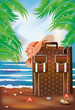 Summer travel banner, vector illustration