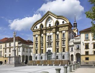 Church of the Holy Trinity in Ljubljana. Slovenija