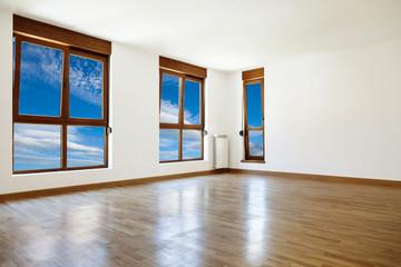 Empty interior room and windows