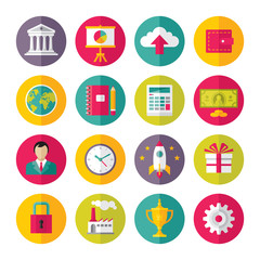 Icons Vector Set in Flat Design Style - 02