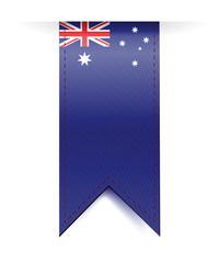 australia flag banner illustration design