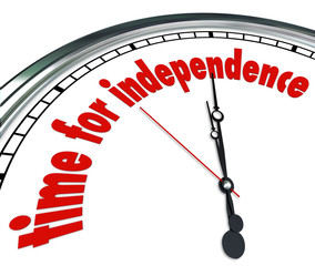 Time for Independence Clock Go Your Own Way Self Reliant