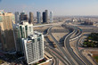 Highway intersection in Dubai, United Arab Emirates