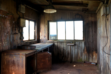 ehemalige Unterkunft im Tagebau Ferropolis