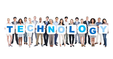 Business People Holding The Word Technology