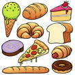 Vector illustration of bakery set