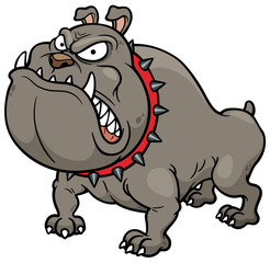 Vector illustration of Angry Dog