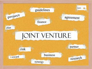 Joint Venture Corkboard Word Concept