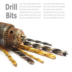 Drill Bits isolated on White background