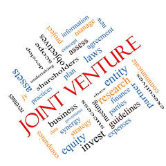Joint Venture Word Cloud Concept Angled