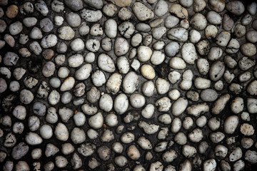 stone of old wall dark color.