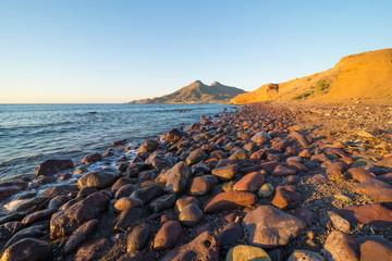Cabo de Gata coast at sunrise