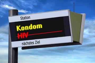 Anzeigetafel 3 - Kondom