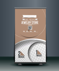 Modern Jewelry Store Roll Up Banner Design