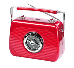 rubin red portable radio
