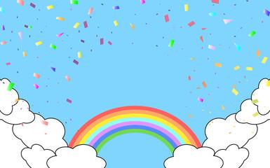虹と紙吹雪