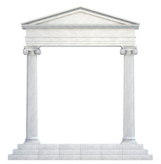 Columns and Arch isolated. Clipping path