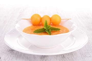 melon soup, gazpacho