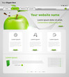 web design vector template with apple, easy editable