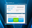 Website blue color template