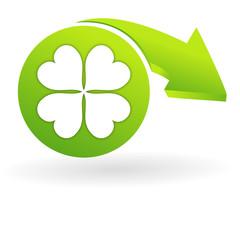 chance sur web symbole vert