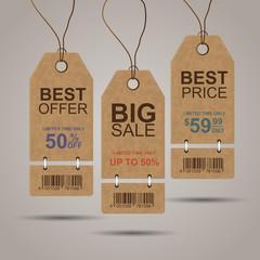 Vintage sale tags