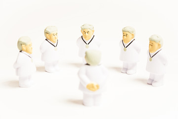 Doctors on white background