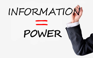 Information is or equal power