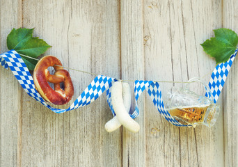 Werbung für Oktoberfest, Biergarten