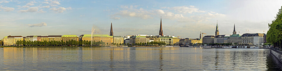 Panorama der Binnenalster, Hamburg