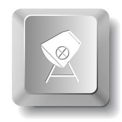 Concrete mixer. Vector computer key.