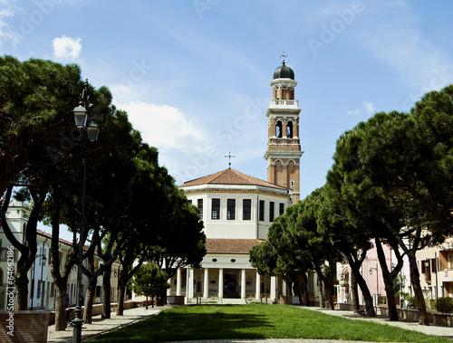 Leinwanddruck Bild Rovigo - chiesa della Beata Vergine del Soccorso - la Rotonda