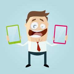 smartphone handy mann freude spaß